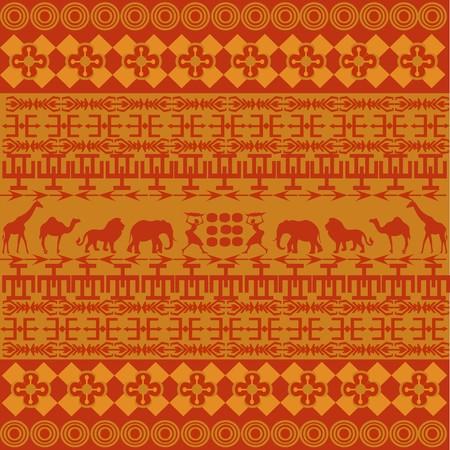 Orange African texture photo