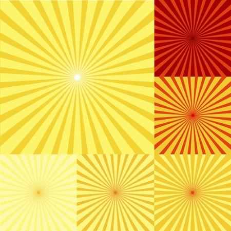 twirls: Set of red, orange and yellow twirls Stock Photo