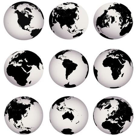 mapa de europa: Globos de tierra