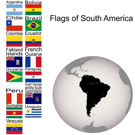 Flags of South America, the complete set photo