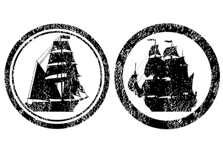 Rubber stamps with old ships Stock Photo - 8254767