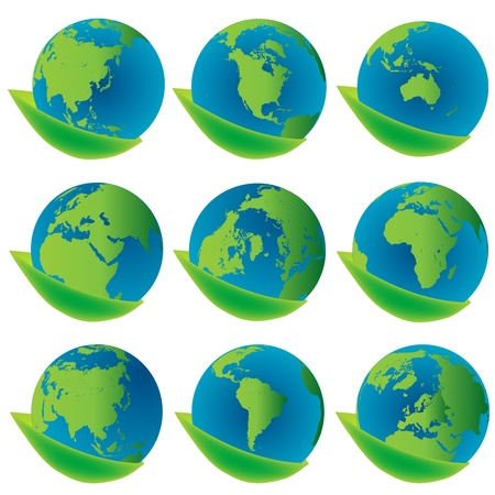 Earth globes , eco concept icons Stock Photo - 8298601