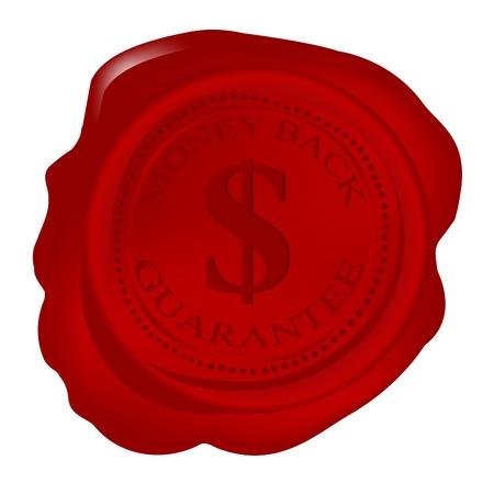 Wax seal with money back guarantee photo