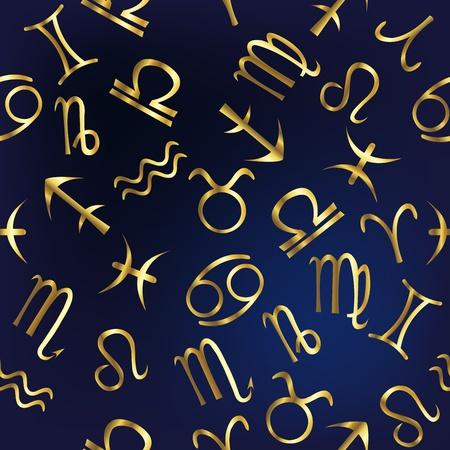 zodiacal symbol: Zodiac signs pattern