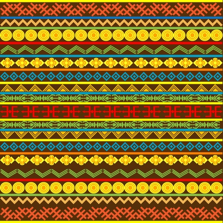 Ethnic African pattern with multicolored motifs photo