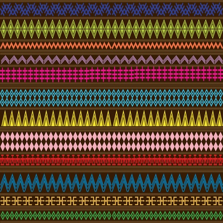 Multicolored texture with geometric ethnic ornaments photo