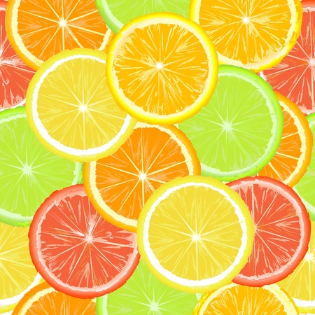 citric: Seamless pattern with citric slices Stock Photo