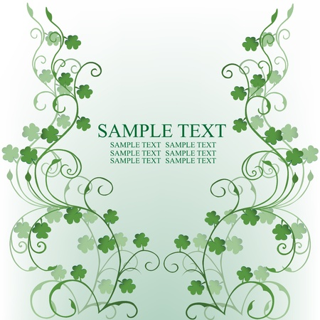 st patrick s day: Clovers foliage, card for St. Patricks Day