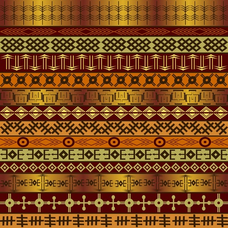 Background with African ethnic motifs Stock Photo