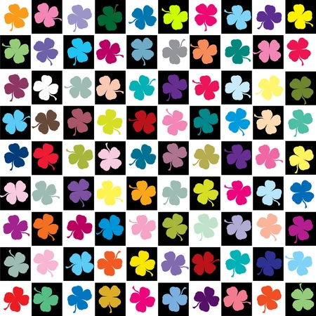 Colored clovers background photo