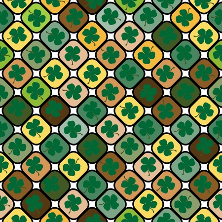 Seamless pattern with clovers for St. Patrics Day photo