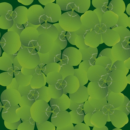 Seamless pattern with clovers, background for St. Patrik's day Stock Photo - 8720132