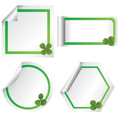 Set of stickers with clovers Stock Photo - 8720117
