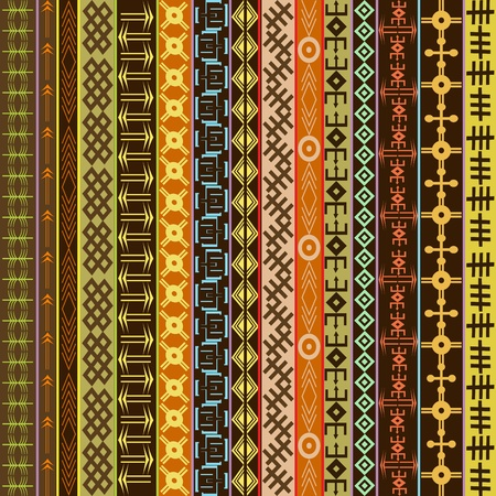 Texture with ethnic geometrical ornaments, colored African motifs background  photo