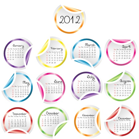 2011 Calendar with curled stickers corners Stock Photo - 8726035