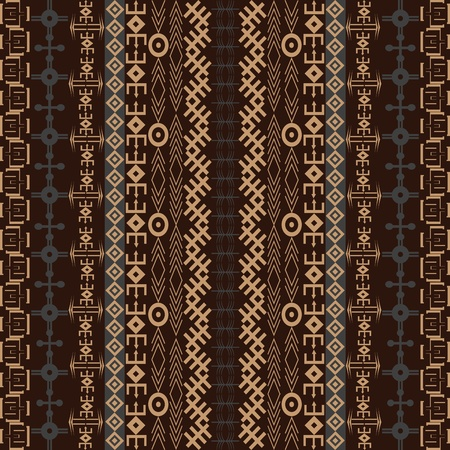 Background with traditional African design in brown tones Stock Photo