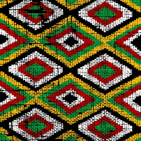 african culture: Old traditional rug Stock Photo