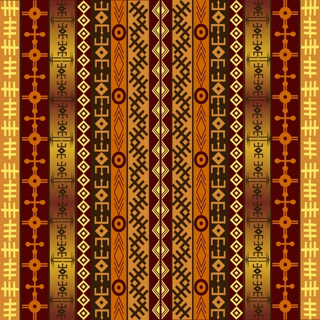 African motifs on ethnic background Stock Photo