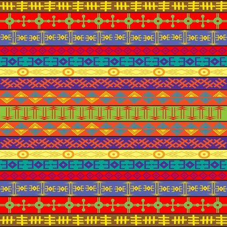 Colored carpet with ethnic ornaments photo