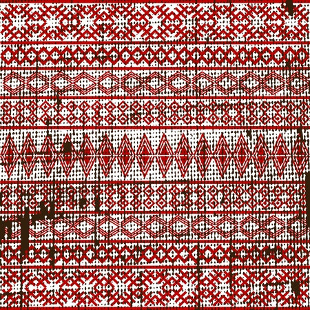 romania: Old ethnic fabric texture
