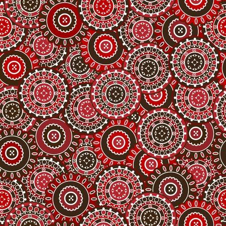 motive: Red nahtlose Muster mit runden Formen