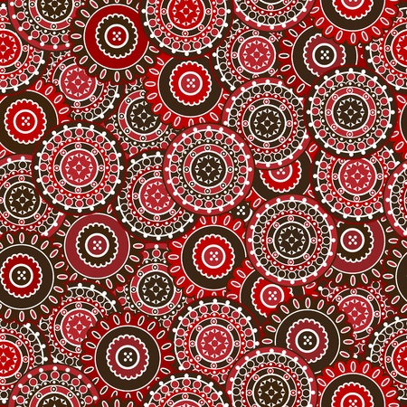 background motif: Red seamless pattern with round shapes