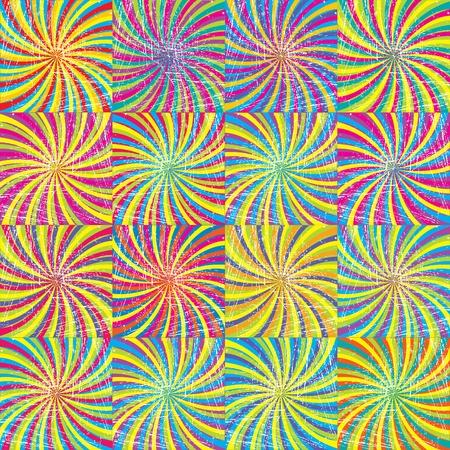 twirls: Colored twirls background seamless pattern