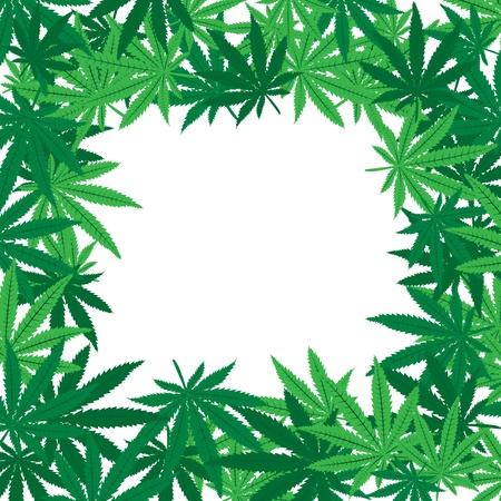 Marijuana leaves frame photo