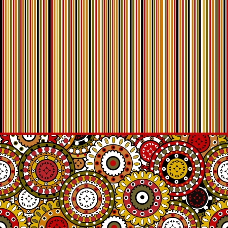 Background with stripes and oriental motifs photo