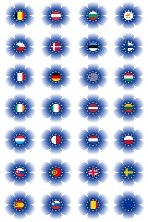 European Union flags Stock Photo - 9263655