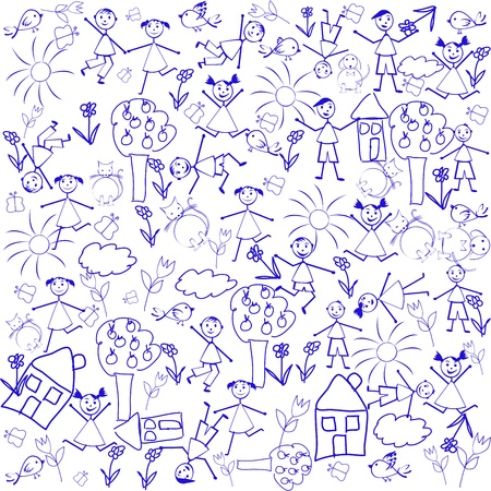 Seamless background with doodle elements Stock Photo - 9263665