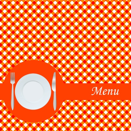 Orange menu card Stock Photo - 9372352