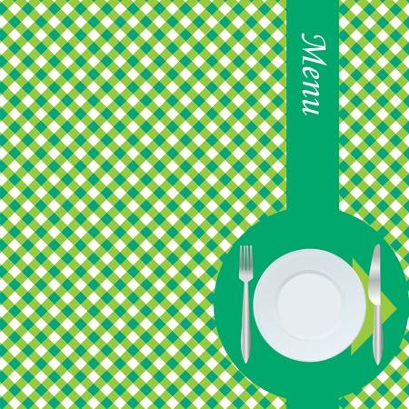 Green menu card photo