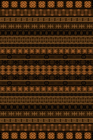 Brown African pattern photo