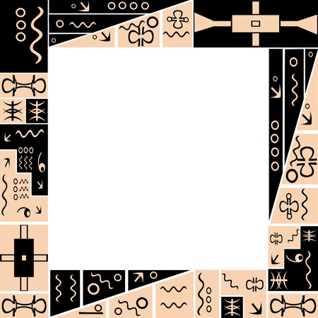 Frame with African tribal ornaments photo