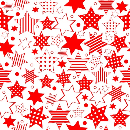 Seamless pattern with stylized stars photo