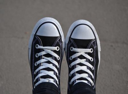 Black sport shoes photo