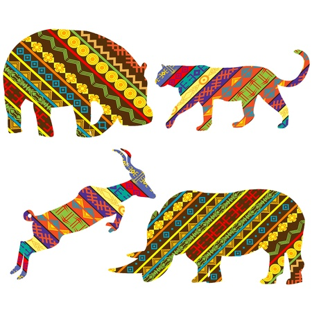 jaguar: Set van Afrikaanse dieren