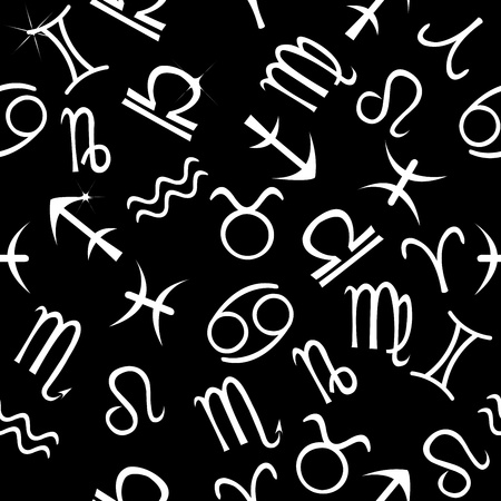 Pattern with astrological signs Stock Photo - 9829627