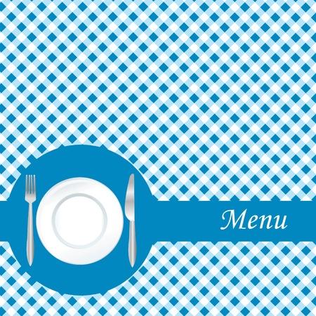 Blue restaurant menu Vector