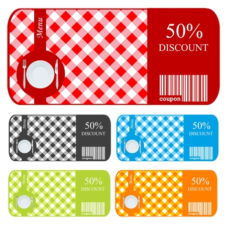 Sale vouchers for restaurants Vector