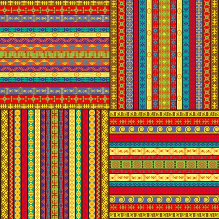 textiles: Set of ethnic colored backgrounds