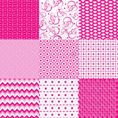 Set with pink background Vector