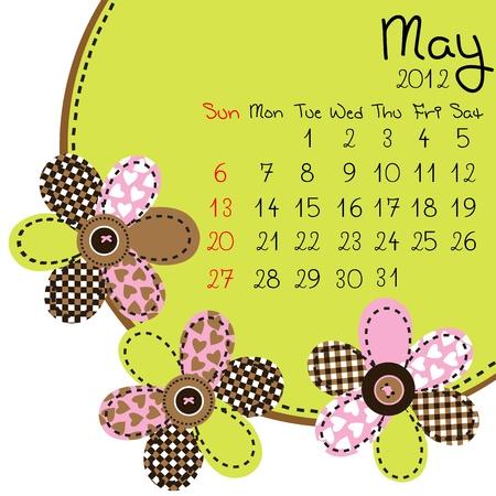2012 May Calendar Stock Vector - 10308426