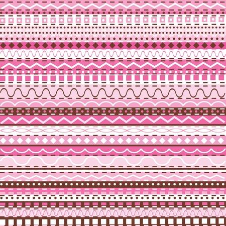 Pink decorative motifs photo