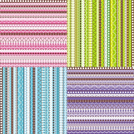 Colored set of patterns photo