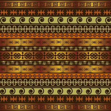 African background with ethnic ornaments Vector