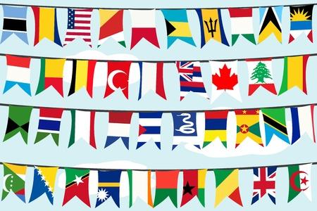 banderas del mundo: Diferentes banderas en las cadenas