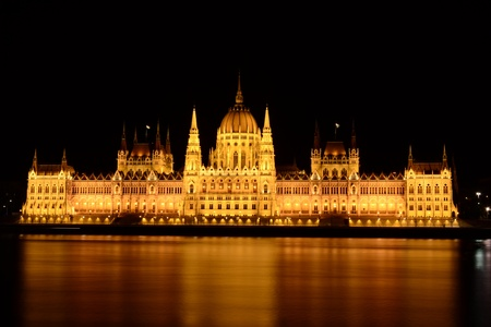 Parlament: The Parlament of Budapest Stock Photo
