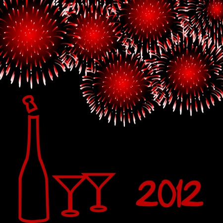 festivities: 2012 New Year card Illustration